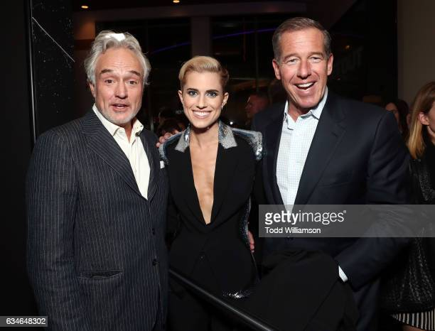 Bradley Whitford Allison Williams and Brian Williams attend a screening of Universal Pictures' Get Out at Regal LA Live Stadium 14 on February 10...