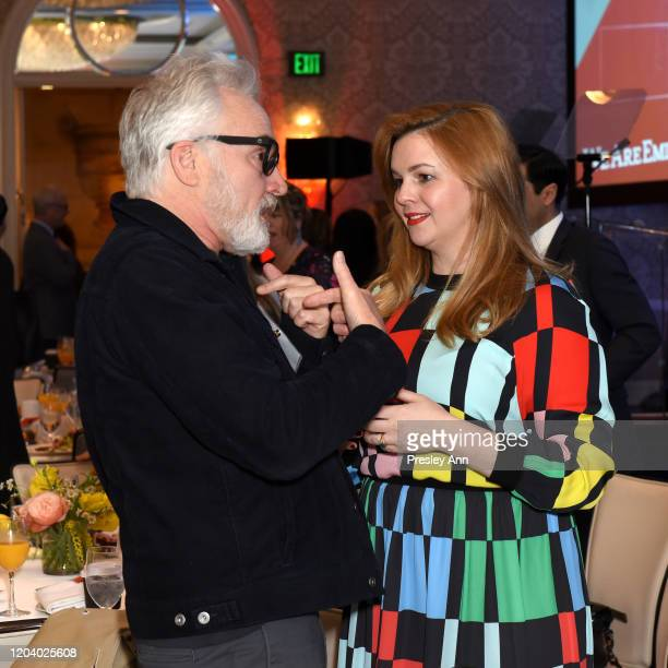 Bradley Whitford and Amber Tamblyn attend EMILY's List Brunch and Panel Discussion Defining Women at Four Seasons Hotel Los Angeles at Beverly Hills...