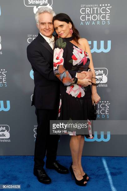 Bradley Whitford and Amy Landecker attend the 23rd Annual Critics' Choice Awards at Barker Hangar on January 11 2018 in Santa Monica California