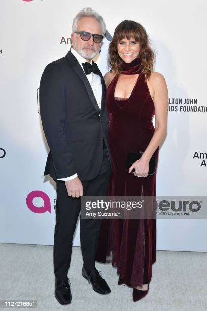 Bradley Whitford and Amy Landecker attend the 27th annual Elton John AIDS Foundation Academy Awards Viewing Party celebrating EJAF and the 91st...