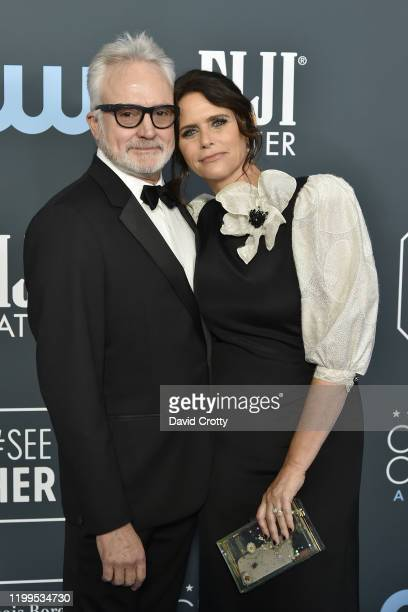 Bradley Whitford and Amy Landecker during the arrivals for the 25th Annual Critics' Choice Awards at Barker Hangar on January 12 2020 in Santa Monica...