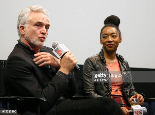 Bradley Whitford and Betty Gabriel attend a Film Independent screening series 'Get Out' on February 02 2018 in Los Angeles California