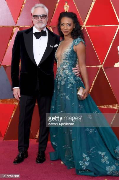 Bradley Whitford and Betty Gabriel attend the 90th Annual Academy Awards at Hollywood Highland Center on March 4 2018 in Hollywood California