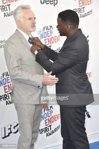 Bradley Whitford and Daniel Kaluuya attend the 2018 Film Independent Spirit Awards Arrivals on March 3 2018 in Santa Monica California