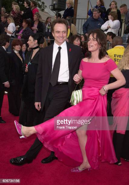 Bradley Whitford and his wife Jane Kaczmarek kick up their heels as they arrive at the 7th Annual Screen Actors Guild Awards