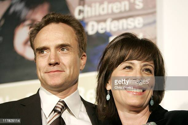 Bradley Whitford and Jane Kaczmarek during Children's Defense Fund 14th Annual Beat the Odds Fundraiser Red Carpet at Beverly Hills Hotel in Beverly...