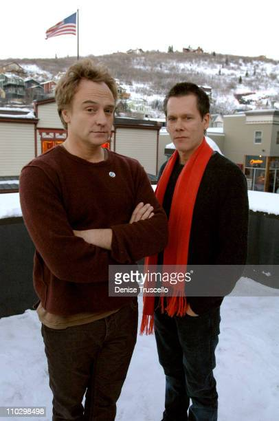 Bradley Whitford and Kevin Bacon during 2007 Park City Kevin Bacon and Bradley Whitford Celebrate the Launch of Sixdegreesorg at Moviephones...