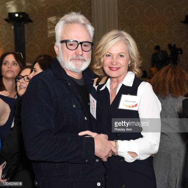 Bradley Whitford and Marilyn Wells attend EMILY's List Brunch and Panel Discussion Defining Women at Four Seasons Hotel Los Angeles at Beverly Hills...