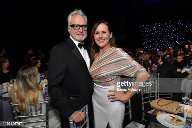 Bradley Whitford and Molly Shannon attend the 25th Annual Critics' Choice Awards at Barker Hangar on January 12 2020 in Santa Monica California