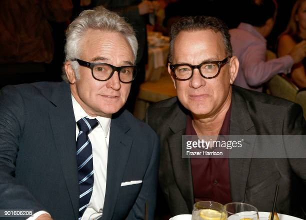 Bradley Whitford and Tom Hanks attend the 18th Annual AFI Awards at Four Seasons Hotel Los Angeles at Beverly Hills on January 5 2018 in Los Angeles...