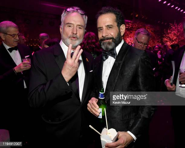 Bradley Whitford and Tony Shalhoub attend PEOPLE's Annual Screen Actors Guild Awards Gala at The Shrine Auditorium on January 19 2020 in Los Angeles...