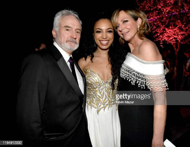 Bradley Whitford, guest, and Allison Janney attend PEOPLE's Annual Screen Actors Guild Awards Gala at The Shrine Auditorium on January 19, 2020 in...
