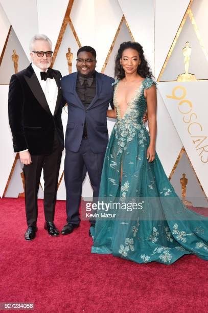Bradley Whitford Lil Rel Howery and Betty Gabriel attend the 90th Annual Academy Awards at Hollywood Highland Center on March 4 2018 in Hollywood...