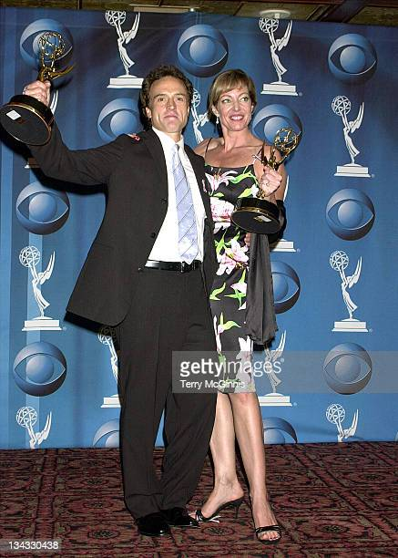 Bradley Whtiford Allison Janney during 53rd Annual Primetime Emmy Awards Press Room at Shubert Theater in Century City California United States