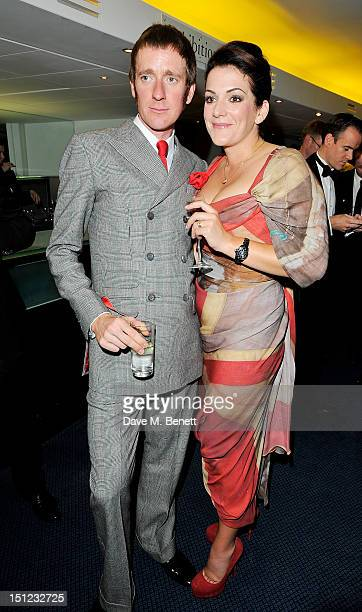 Bradley Wiggins and Catherine Wiggins arrive at the GQ Men Of The Year Awards 2012 at The Royal Opera House on September 4 2012 in London England