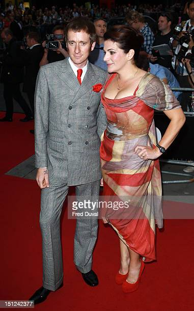 Bradley Wiggins and Catherine Wiggins attend The GQ Men of the Year Awards at The Royal Opera House on September 4 2012 in London England