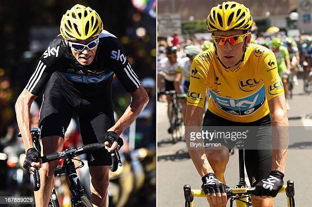 Bradley Wiggins of Great Britain and SKY Procycling in action during the twentieth and final stage of the 2012 Tour de France, from Rambouillet to...
