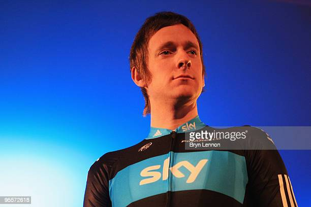 Bradley Wiggins of Great Britain attends the Team Sky Launch at Millbank Tower on January 4, 2010 in London, England.