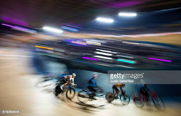 Bradley Wiggins of Great Britain during the 60 lap Derny during the Six Day London Cycling at the Velodrome on October 30 2016 in London England