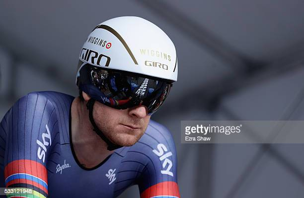 Bradley Wiggins of Great Britain riding for Team Wiggins prepares for the individual time trial during Stage 6 of the Amgen Tour of California on May...