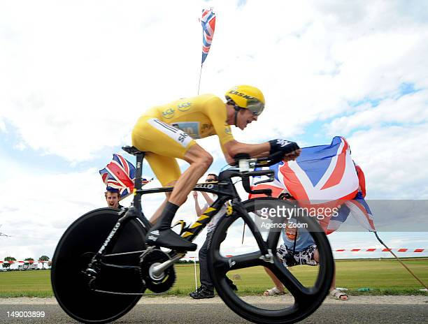 Bradley Wiggins of team SKY PRO CYCLING during Stage 19 of the Tour de France on Saturday 21 July 2012, Bonneval to Chartres, France.