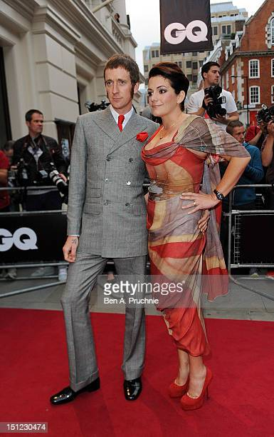 Bradley Wiggins with wife Catherine Wiggins attends the GQ Men of the Year Awards 2012 at The Royal Opera House on September 4 2012 in London England
