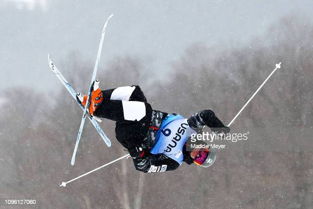 Bradley Wilson of the United States competes in the Men's Moguls Final during the FIS Freestyle Ski World Cup 2019 at Whiteface Mountain on January...