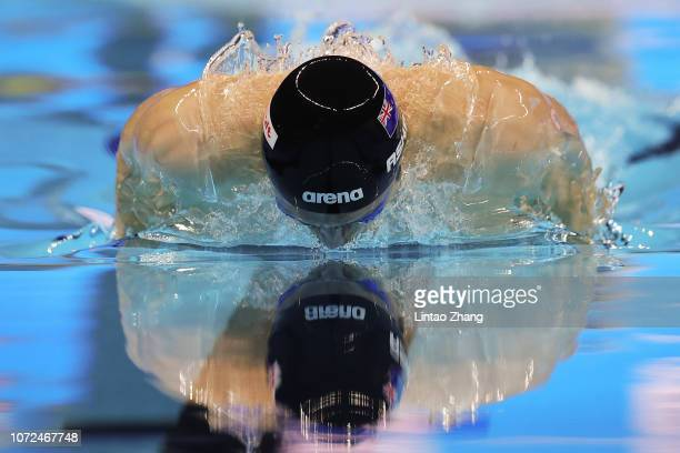 Bradllee Ashby of New Zealand competes in the Men's 100m Individual Medley Semifinal of the 14th FINA World Swimming Championships at Hangzhou...