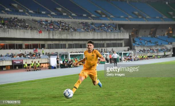 Bradon Borrello of Australia dribble during the FIFA World Cup Qatar 2022 and AFC Asian Cup China 2023 Preliminary Joint Qualification Round 2 match...