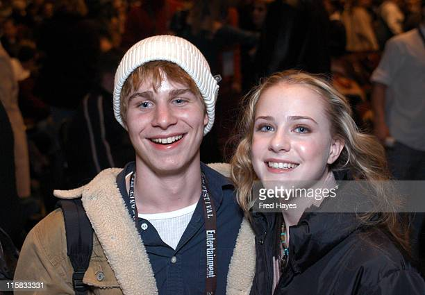 Brady Corbet and Evan Rachel Wood during 2003 Sundance Film Festival 'Thirteen' Premiere at Eccles in Park City Utah United States