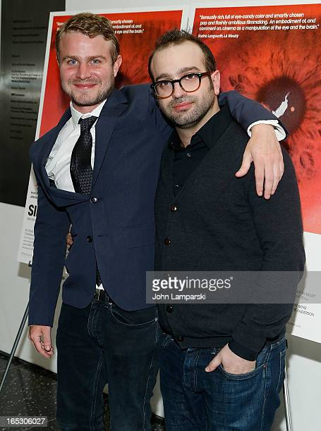 Brady Corbet and Filmmaker Antonio Campos attend the 'Simon Killer' New York premiere at MOMA on April 2 2013 in New York City