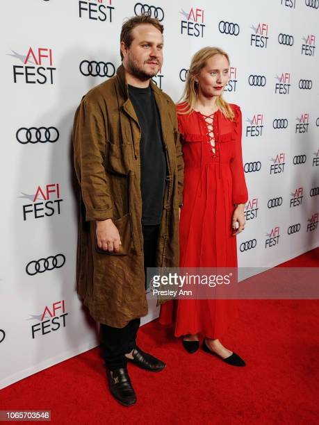 Brady Corbet and Mona Lerche attend AFI FEST 2018 Presented By Audi Vox Lux Special Screening at American Cinematheque's Egyptian Theatre on November...