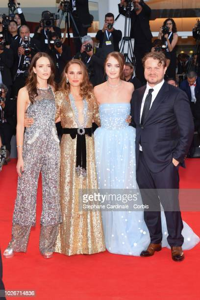 Brady Corbet Raffey Cassidy Natalie Portman and Stacy Martin walk the red carpet ahead of the 'Vox Lux' screening during the 75th Venice Film...