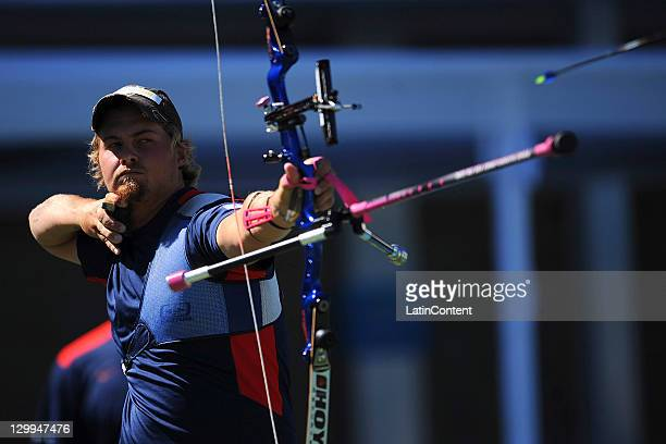 Brady Ellison, of USA, in action during the men's individual of the archery competition as part of the Pan American Games Guadalajara 2011 at Pan...