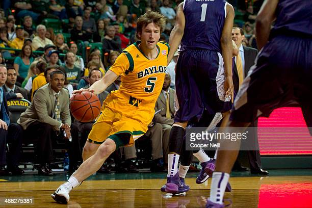 Brady Heslip of the Baylor Bears drives to the basket against the TCU Horned Frogs on January 11 2014 at the Ferrell Center in Waco Texas
