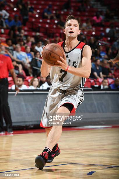Brady Heslip of the Chicago Bulls handles the ball against the Philadelphia 76ers on July 14 2017 at the Thomas Mack Center in Las Vegas Nevada NOTE...