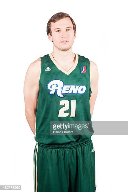 Brady Heslip of the Reno Bighorns poses for a photo during the 2014 Reno Bighorns media day before the start of the 201415 NBA DLeague season on...