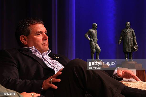 Brady Hoke attends the filming of Stars of Maxwell Football Club Discussion Table at Harrah's Resort March 2 2012 in Atlantic City New Jersey