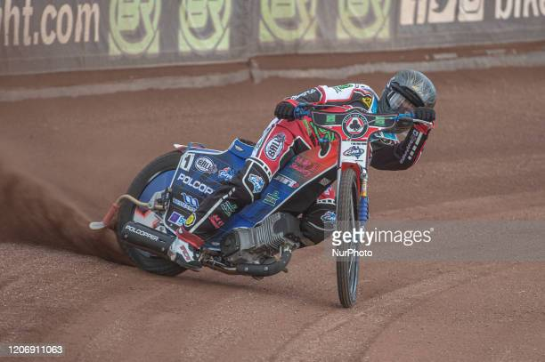 Brady Kurtz of Belle Vue Aces in action during The Belle Vue Speedway Media Day, at The National Speedway Stadium, Manchester, on Thursday 12 March...