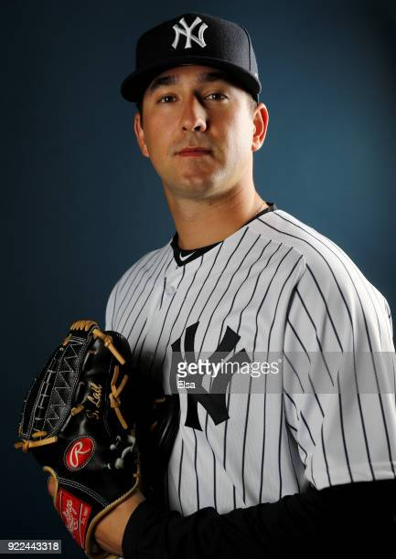 Brady Lail of the New York Yankees poses for a portrait during the New York Yankees photo day on February 21 2018 at George M Steinbrenner Field in...