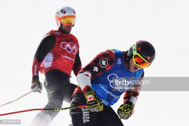 Brady Leman of Canada competes in the Freestyle Skiing Men's Ski Cross Semifinals on day 12 of the PyeongChang 2018 Winter Olympic Games at Phoenix...