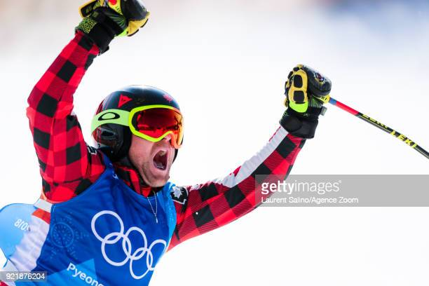 Brady Leman of Canada takes 1st place during the Freestyle Skiing Men's Finals Ski Cross at Pheonix Snow Park on February 21 2018 in Pyeongchanggun...