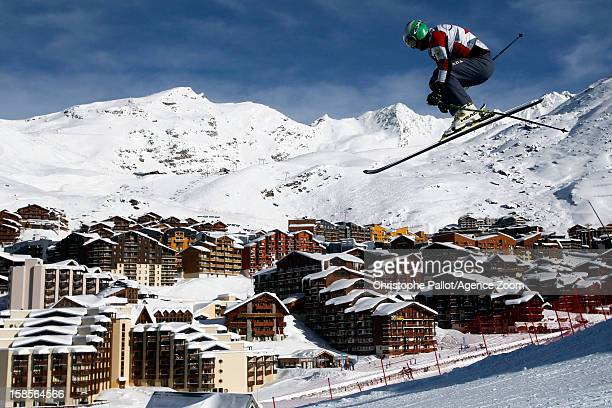 Brady Leman of Canada takes 2nd place during the FIS Freestyle Ski World Cup Men's Ski Cross on December 19 2012 in Val Thorens France