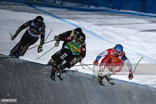 Brady Leman of Canada takes 2nd place during the FIS Freestyle Ski World Cup Men's and Women's Ski Cross on December 13, 2016 in Arosa, Switzerland.