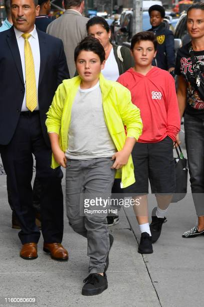 Brady Noon is seen outside of The Late Show With Stephen Colbert on August 6 2019 in New York City