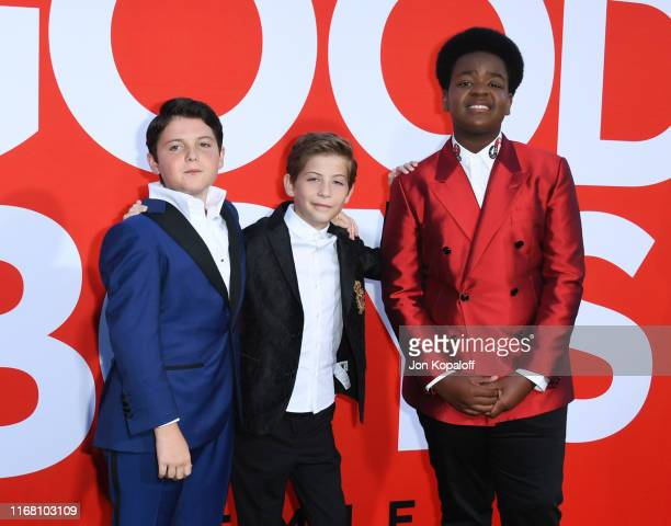 Brady Noon Jacob Tremblay and Keith L Williams attend the Premiere Of Universal Pictures' Good Boys at Regency Village Theatre on August 14 2019 in...