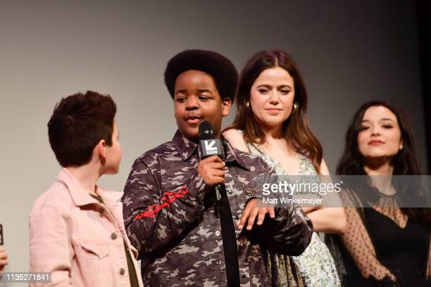 Brady Noon Keith L Wiliams Molly Gordon and Midori Fransis attend the Good Boys Premiere 2019 SXSW Conference and Festivals at Paramount Theatre on...