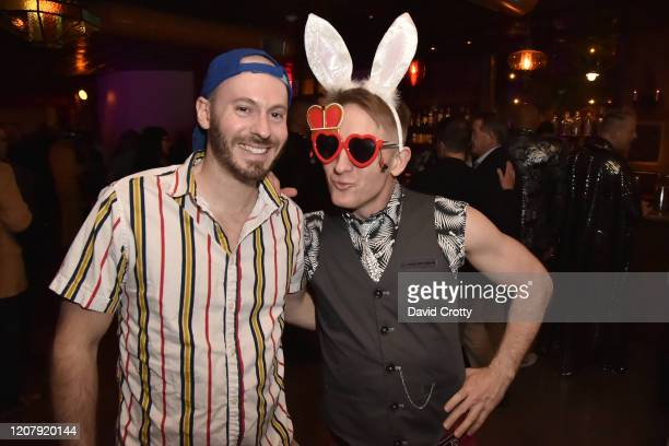 Brady Robertson and Jeffrey Berringer attend the House Of Cardin Special Screening At Palm Springs Modernism Week at The Plaza Theater on February 21...