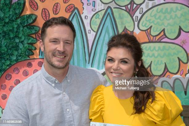 Brady Smith and Tiffani Theissen attend a book signing event for their book You're Missing It at The Grove on May 04 2019 in Los Angeles California
