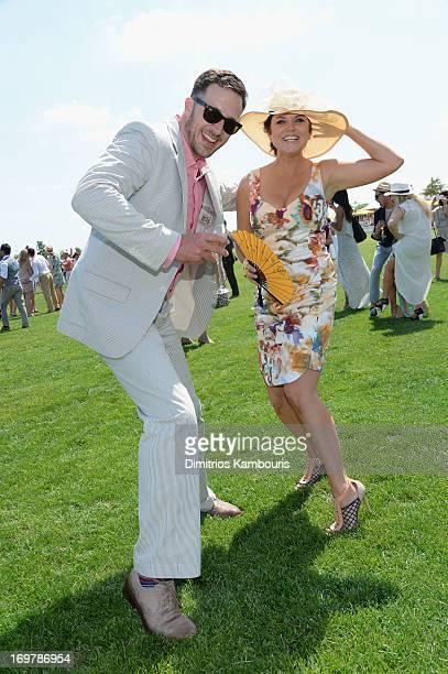 Brady Smith and Tiffani Thiessen attends the sixth annual Veuve Clicquot Polo match Classicon June 1 2013 in Jersey City